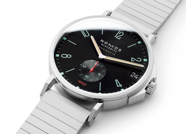 The Nomos presents the watch brand's minimalism.